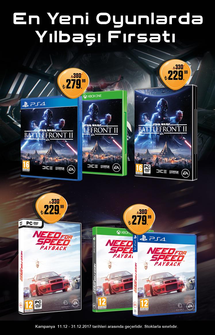 Need for Speed Payback ve Star Wars Battlefront II Aralık Kampanyası
