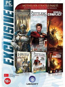PC SETTLERS 5 + HEROES 5 + WORLD IN CONFLICT